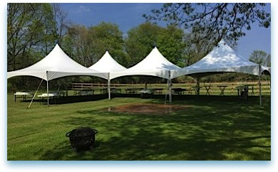 Tents, Tables & Chair Rented for Birthday Party in Hunterdon County NJ