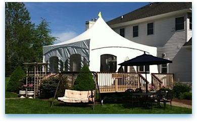 Tent Rental for Wedding Reception in Mercer County NJ